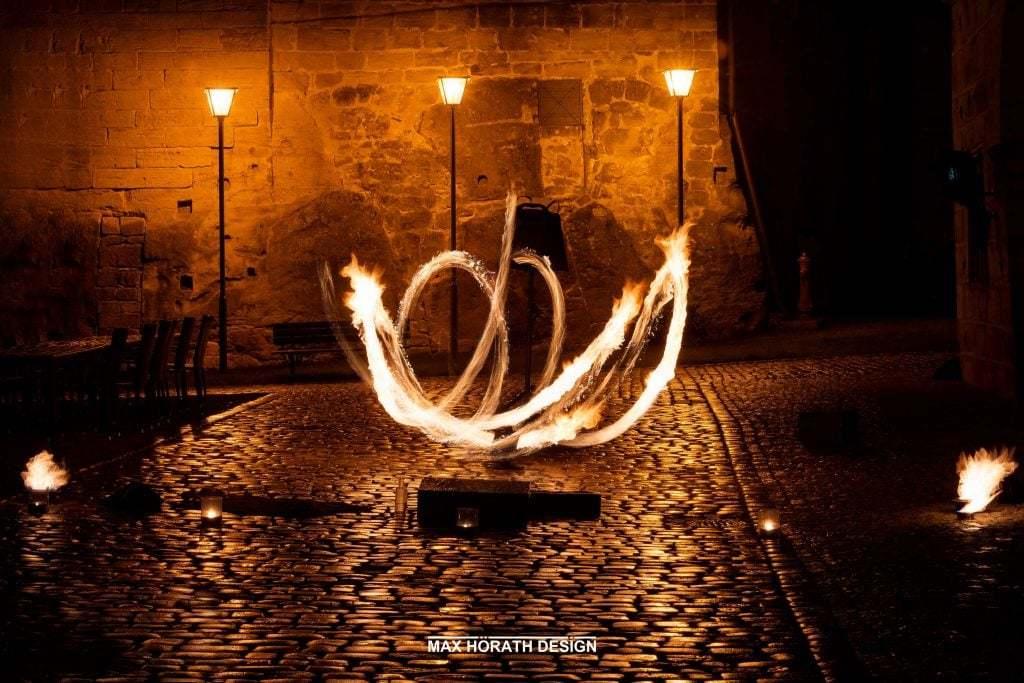 Silke Achim Trauung Feuershow 1 1 1