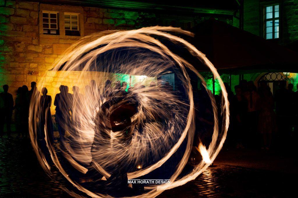 Silke Achim Trauung Feuershow 3 1