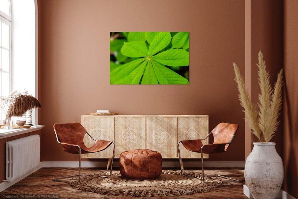 Bild auf Leinwand in Zimmer